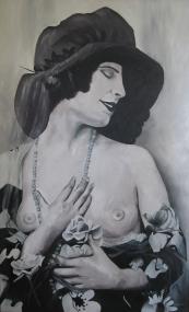 'French Lady' 85x140 Acryl op doek 2010