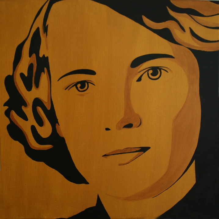 'Mevrouw Reinink' In opdracht 50x50 Acryl op doek 2010