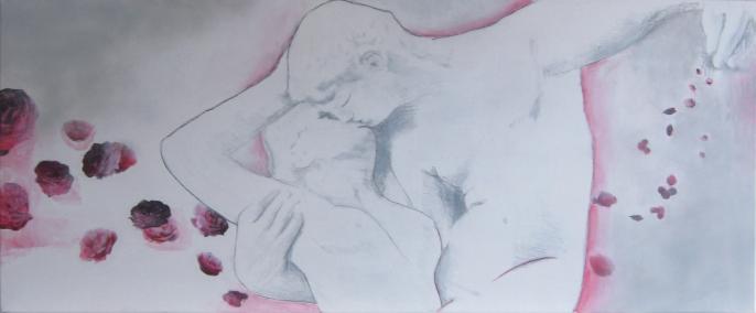 'Rodin' In opdracht 40x120 Acryl op doek 2010