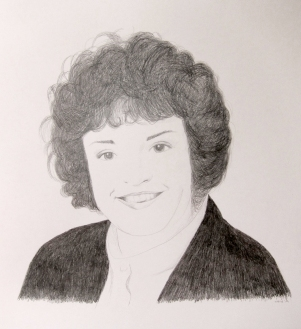 'Vrouw van Jan' In opdracht Potlood op papier 50x65 Potlood op papier 2014